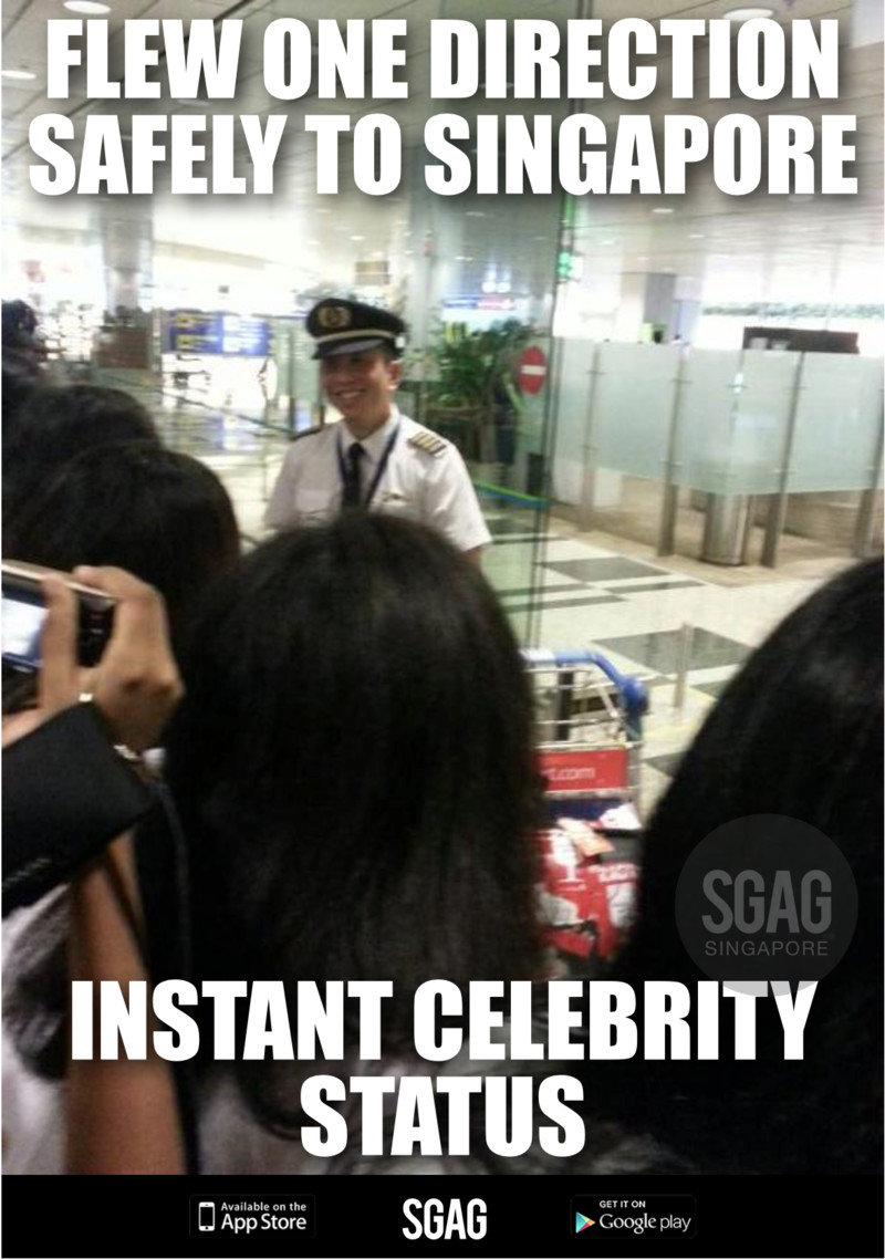 Pilot that flew One Direction to Singapore becomes famous