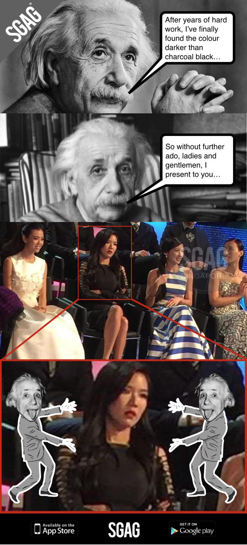 Black face app - Rui En S Black Face At Star Awards A Scientific Breakthrough For Einstein