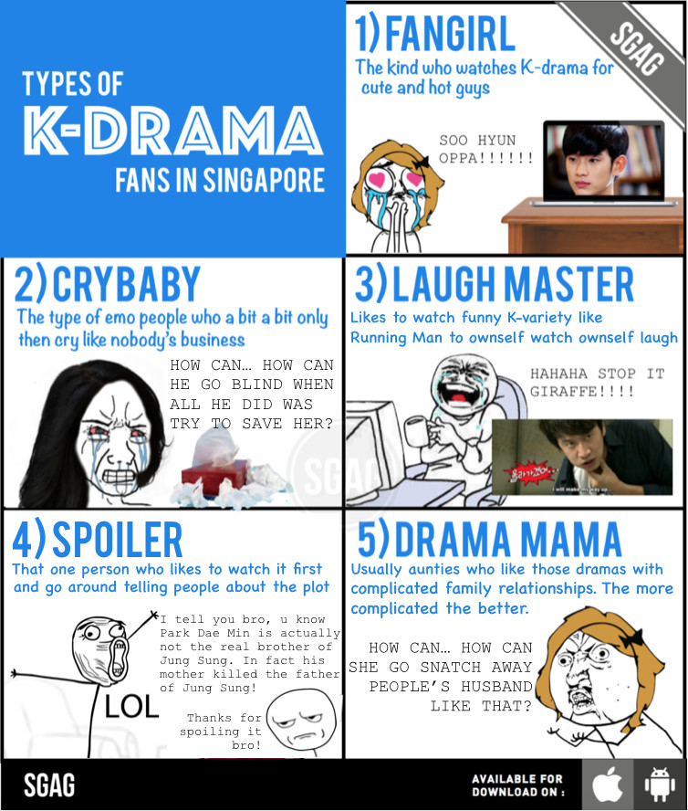 Which type of K-drama fans are you and your friends?