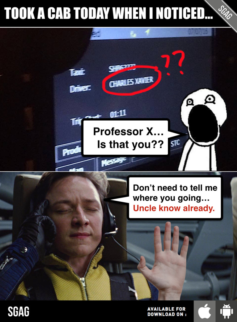 7560_large_charles_xavier_meme?1467885067 charles xavier is in singapore as a taxi driver??? 😱😱